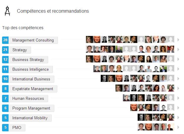 Linkedin Competences et recommandations