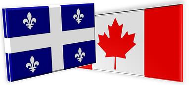Mobilité professionnelle France, Recrutement de professionnels France, Drapeau Canada, Drapeau Quebec